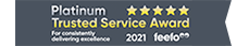 Feefo - 2021 Platinum Trusted Service